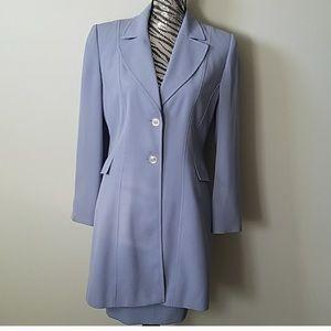 Blue lavender skirt suit